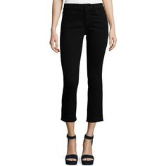 Dl1961 Premium Denim Mara Instasculpt Cropped Straight Jeans (£145) ❤ liked on Polyvore featuring jeans, black, women's apparel jeans and dl1961 premium denim