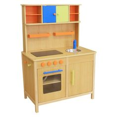 Have to have it. Berry Toys Lots of Fun Wooden Play Kitchen - $199 @hayneedle