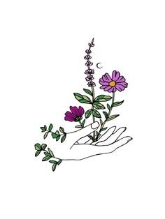One With the Wild / botanical line drawing / one line drawing Cool Art Drawings, Art Drawings Sketches, Easy Drawings, Tattoo Drawings, Tattoo Sketches, Outline Art, Embroidery Art, Doodle Art, Cute Art