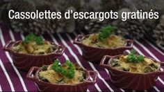 Cassolettes d'escargots gratinés
