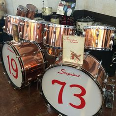 Copper Slingerland at the Chicago Drum Show.