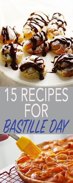 Celebrate Bastille Day with classic French recipes, this guide to Bastille Day is all you need to host & celebrate the French National Holiday! | FusionCraftiness.com, Bastille Day, French recipes, tarts, crepe, cream puffs, profiteroles, boeuf bourguignon, coq au vin