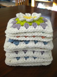 Flower Garden Granny Square tutorial with chart
