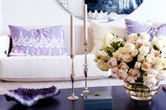 The Décor Trend That Will Rock Your World// amethyst and peach