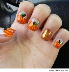 Pumpkins on nails