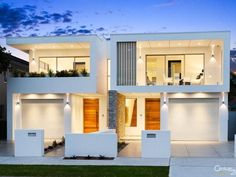 M Cubed Architects - Sydney Duplexes, Designer Houses, Townhouses - Sutherland Shire, Georges River, Bayside Duplex House Design, Duplex House Plans, Modern House Plans, Apartment Design, Modern House Design, Duplex Apartment, Modern Townhouse, Townhouse Designs, Contemporary Houses
