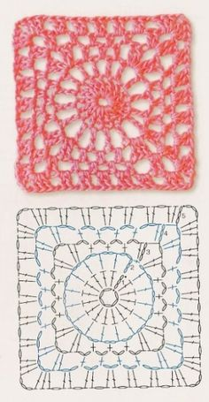 Gabriela Delicacies in crochet: Free Patterns; Crochet Motif Patterns, Granny Square Crochet Pattern, Crochet Blocks, Crochet Diagram, Crochet Chart, Crochet Squares, Crochet Granny, Filet Crochet, Granny Squares