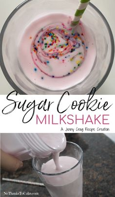 Jenny Craig Recipe Creation: Sugar Cookie Milkshake