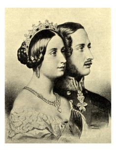 Queen Victoria and Prince Albert, Portraits in Profile