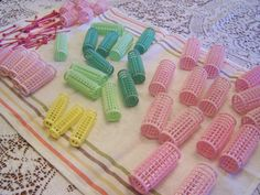 Mid Century Plastic Hair Rollers, Hair Curlers, Wil Hold, Retro Beauty Shop, 41 Rollers, Pin Hair Rollers, Assorted Lot