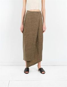 Comfort İzak Skirt Creatures - Yağlı Keten Zeytin