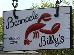 Barnicle Billy's, Perkins Cove, Ogunquit, ME. THE spot for summertime dining with outdoor seating next to the cove. Great lobster rolls.