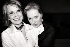Crushin on the grace and class these two are showing as they age in an age-ist world!....Meryl Streep and Diane Keaton