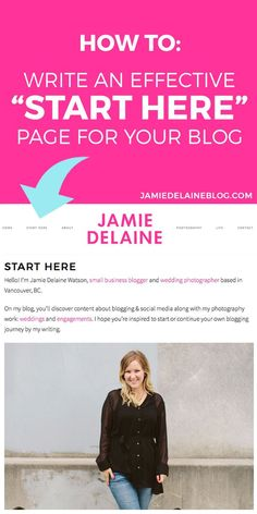 """Writing an Effective """"Start Here"""" Page for Your Blog"""