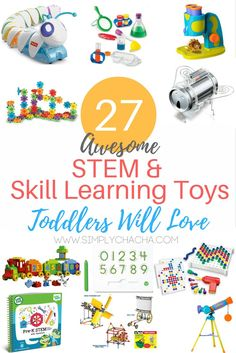 27 STEM & Skill Learning Toys Toddlers will love - 2016 Holiday Gift Guide
