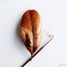 pintura-hojas-secas-posos-cafe-ghidaq-al-nizar-zerowastecoffee (8)