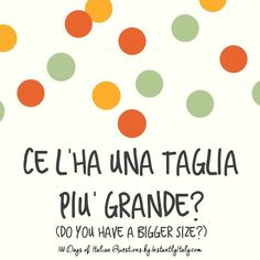 51/100 - 100 Days of Italian Questions on Instagram