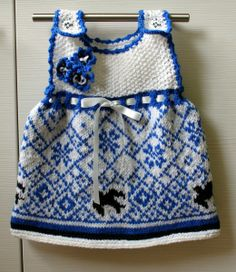 Estonian national flag colors in one gorgeous baby dress . I love it!