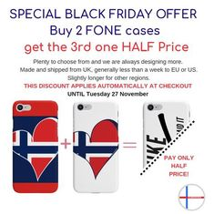 buy 2 phone cases, 3rd one is half price!