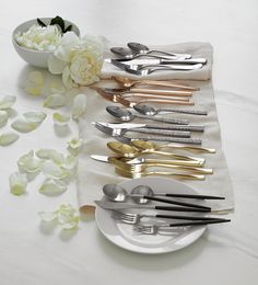 Set the table with beautiful flatware and utensils from Crate and Barrel. Find silverware sets, serving pieces, utensils, steak knives and more. All our flatware is forged from high quality stainless steel and is designed for both beauty and durability.