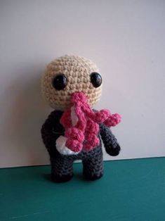 adorable Ood and other crocheted Dr. Whovians