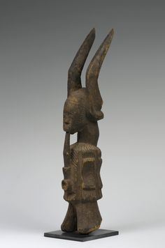 Art & Life in Africa - The University of Iowa Museum of Art. Relates to Ikenga (shrine figure). Igbo peoples (Nigeria). c. 19th to 20th century C.E. Wood.