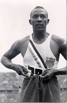 Jesse Owens: winner of four gold medals in the 1963 Berlin Olympics: 100m sprint, 200m sprint, long jump, and 4x100 meter relay team.