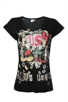 CAMISETA MICKEY E MINNEI - Feminina - Blusas/Camisetas - Pool | Riachuelo - Patrocinadora Oficial da Moda