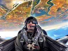 In this shot, we see GoPro's Senior Director of Global Comm. & Social Marketing, Kash Shaikh, flying inverted with the Patriots Jet Team. Fighter Pilot, Fighter Jets, Gopro Action, Action Images, Gopro Photography, Gopro Camera, Strange Places, Aviation Art, Gopro Hero