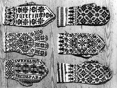 Vintage Norwegian mittens from digitalt museum Mittens Pattern, Knit Mittens, Knitted Gloves, Knitting Charts, Hand Knitting, Knitting Patterns, Knitting Ideas, Norwegian Knitting, Fair Isle Knitting