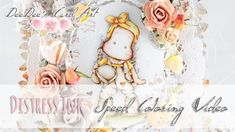 ♥ DeeDee' Card Art ♥ Distress Ink Coloring Video: Market Tilda by Magnolia Stamps