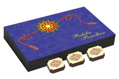 Rakhi gifts - 12 Chocolate Gift Box - Rakhi festival gifts with Rakhi