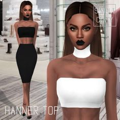 HANNER TOP at Simpliciaty via Sims 4 Updates