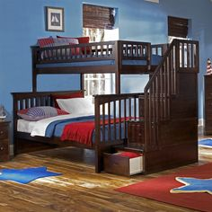 Atlantic Furniture  Columbia Staircase Bunk Bed - #ATGStores