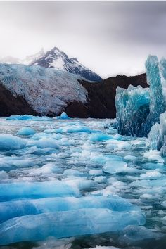 "rustically: "" Glacier Grey, Chile | circleyq """