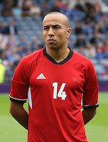 Men's Olympic Football match Honduras v Morocco on 26.7.12...Houssine Kharja of Morocco, during the Spain v Japan Men's Olympic Football match at Hampden Park, Glasgow.........