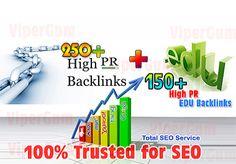 manually build 50+ High PR EDU backlinks + 150+ High PR Back... for $30
