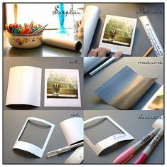How to make magnetic Polaroid frames