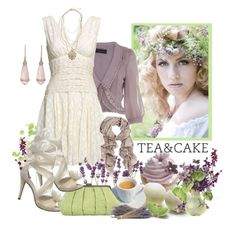 English Tea - Paul McCartney by musicisair on Polyvore featuring polyvore, fashion, style, Monsoon, Miss Selfridge, Precis Petite, Seychelles, STELLA McCARTNEY, Butter, Melissa, Nespresso, clothing, chain necklaces, ruffle blouses, lace up heels, linen clutch, lavender, tea and clutches
