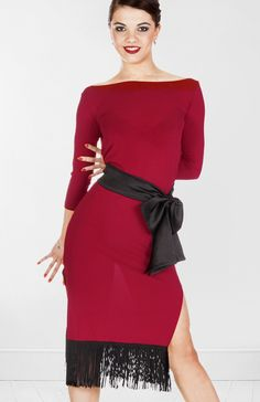 Next practice dress! Except in black, of course :) DSI Freya Sleeve Latin Dance Dress