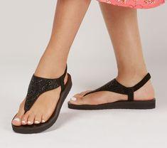 Pretty Sandals, Cute Sandals, T Strap Sandals, Ankle Strap, Flat Sandals, Skechers Store, Skechers Elite, Spring Sandals, Summer Shoes