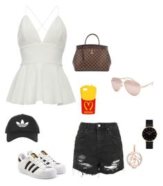 """Untitled #212"" by rekac on Polyvore featuring Topshop, adidas Originals, Louis Vuitton, Full Tilt, Moschino, CLUSE and LC COLLECTION"