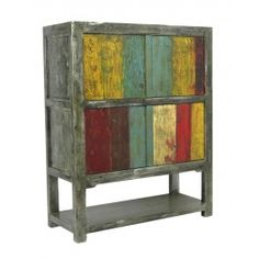 $1,448.97 Shelby Grey and Multicolor 4-Door Tall Cabinet http://thespotteddoor.com/shelby-grey-and-multicolor-4-door-tall-cabinet.html