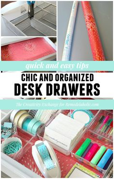 Quick tips for organizing desk drawers| Remodelaholic.com