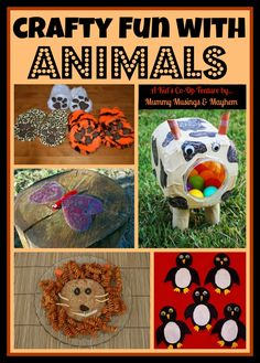 Mummy Musings and Mayhem: A collection of fun animal themed ideas featured on The Kid's Co-Op this week!