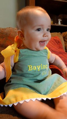 Baylor Girl Dress!   www.thebeeinme.com