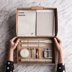Buchbinden-Kit: Japanische Nähen von TexturesFactory auf Etsy