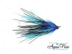 Aqua Flies Mini Intruder Steelhead - 4 Rhea Intruders Blue Purple - Set of 4 Steelhead Fly Fishing Flies
