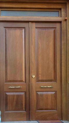 Pre pintado de entrada principal puerta de madera exterior for Puertas dobles para exterior