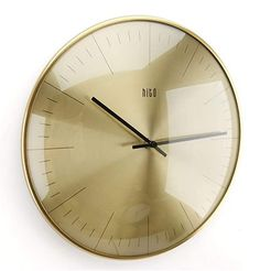 hito Silent Non Ticking Wall Clock Glass Front Cover Accurate Sweep Movement 12 inch Modern Decorative for Kitchen, Living Room, Bathroom, Bedroom, Office (Gold 1) Wall Clock Glass, Kitchen Living, Living Room, Best Wall Clocks, Bedroom Office, Ticks, Bathroom, Cover, Gold